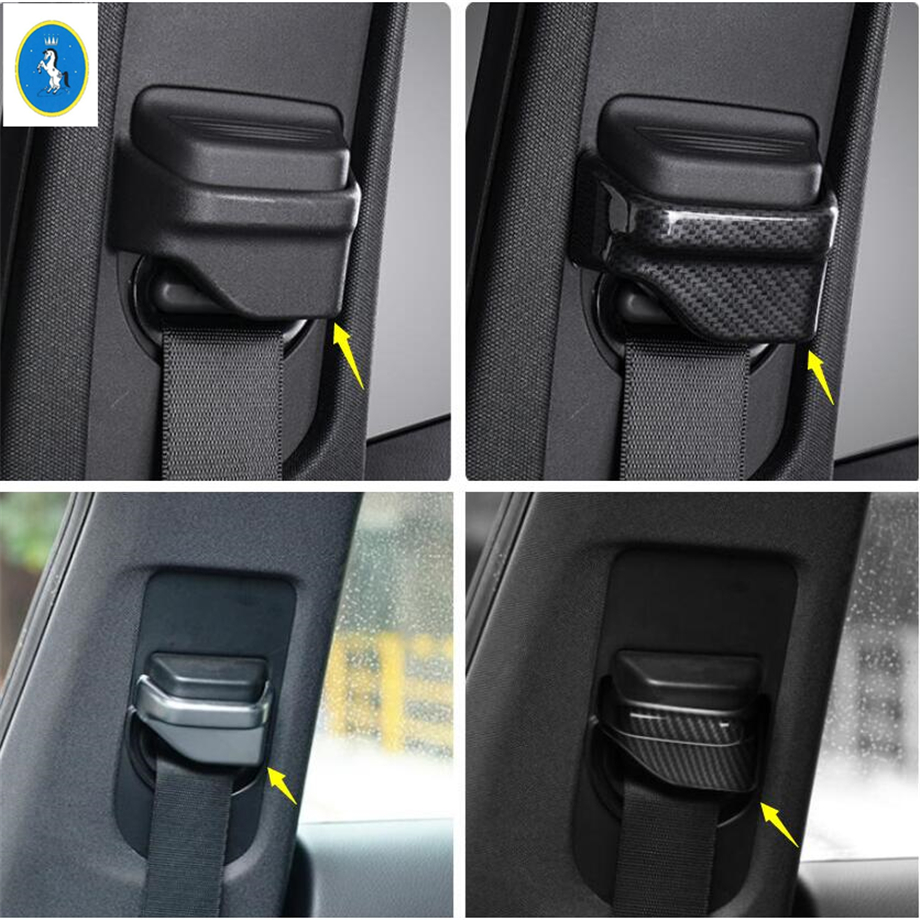 Yimaautotrims Auto Styling Safety Seat Belt Lock Buckle Cover Trim Fit For Mercedes Benz GLA X156 / CLA W117 2015 - 2019 ABS