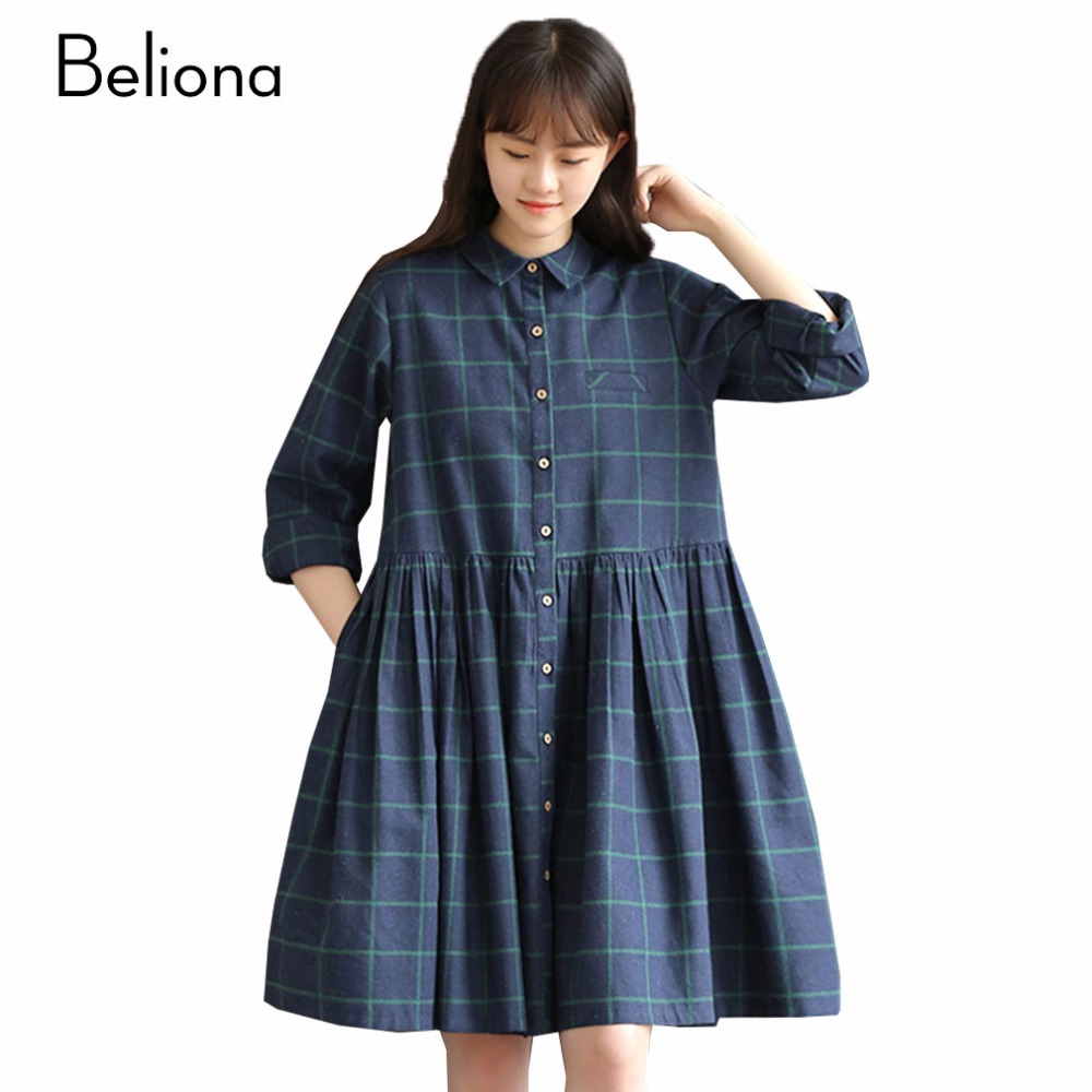 Online get cheap comfortable maternity clothes aliexpress vintage plaid maternity dress fall long sleeved dresses for pregnant women comfortable casual maternity clothes premama clothing ombrellifo Image collections