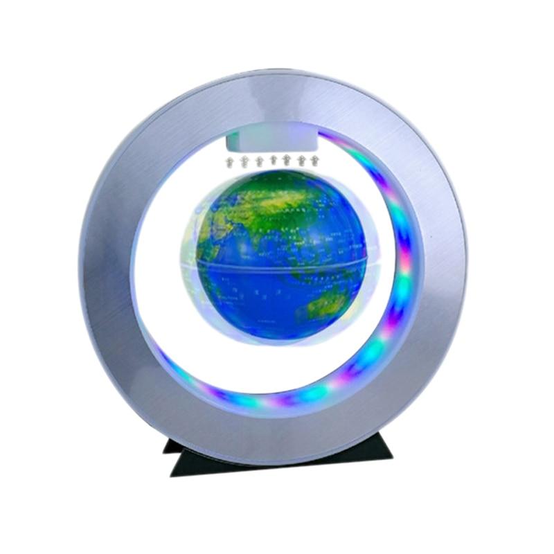Magnetic Levitation Earth Round Led Floating Light Anti-Gravity Creative Plasma Ball Novelty Gift Blue Plastic Us Plug