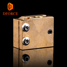 DFORCE High Temperature H59 copper volcano heater block for E3D HOTEND Compatible PT100 Thermistor Cartridge sensor V6 hot