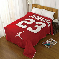 Winter Soft Fleece Basketball Jordan Flannel Blanket Bed Sheet Coral Fleece Blanket Throw on Sofa/Car/Travel BedSpread 130x150cm