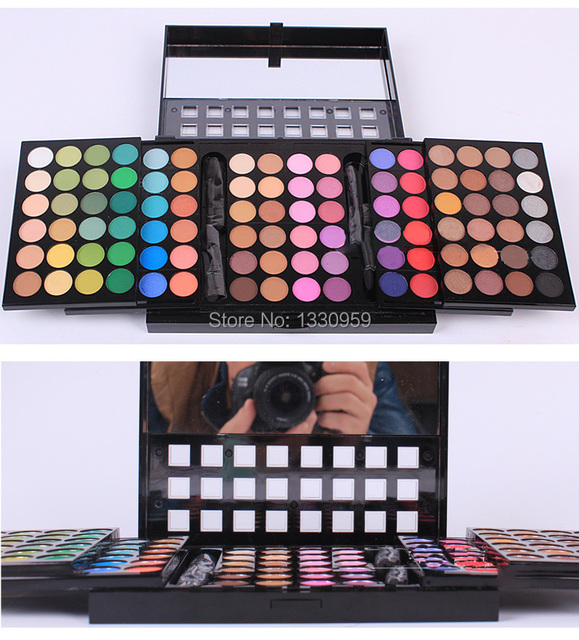 Free Shiping 5 Layer Design 96 Full Pigment Color Eyeshadow Makeup Shimmer Matte natural Eye Shadow Palette