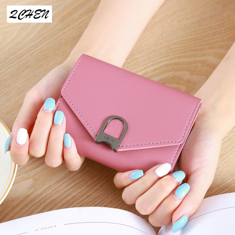 Women Wallets Small Fashion Brand Leather Purse Ladies Card Bag For Women Wallet 2019 Clutch Women Female Purse Money Clip 261