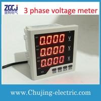 Free shipping !!! digital voltage panel meter AC/DC 85 265V supply voltage measure 0 450V AC 3 phase digital voltage meter
