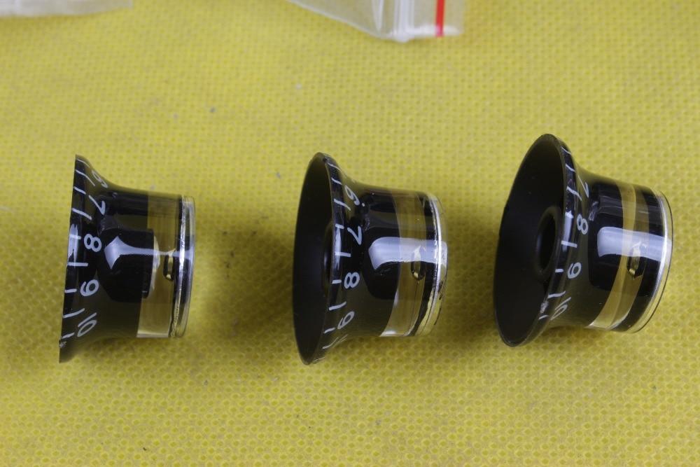 buy 6pcs lot electric guitar knob volume konb black button fender strat. Black Bedroom Furniture Sets. Home Design Ideas