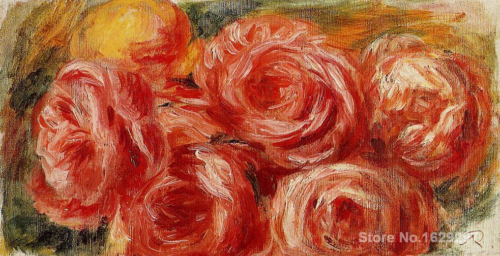 oil reproductions canvas Red Roses by Pierre Auguste Renoir art Hand-painted High qualityoil reproductions canvas Red Roses by Pierre Auguste Renoir art Hand-painted High quality