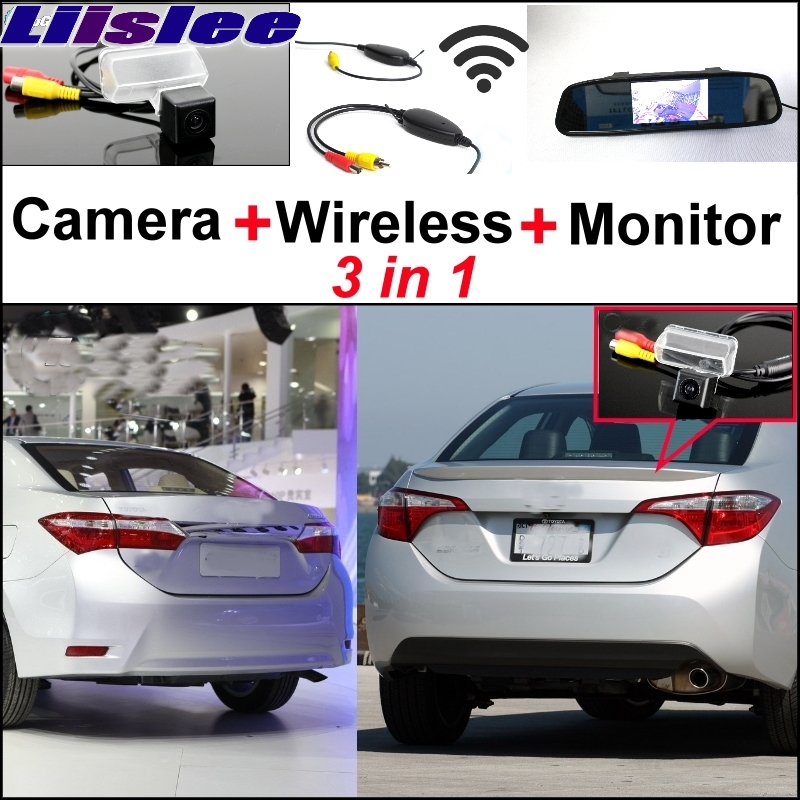 Liislee For TOYOTA Corolla E170 Levin 3 in1 Special Rear View Camera + Wireless Receiver Mirror Monitor Easy Back Parking System 1 30 wwii german mechanized forces captured the urban combat scenarios alloy model suits the scene fm