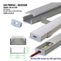 Wholesale 10pcs 1meter LED Aluminum Extrusion For Flex Hard Led Strip Aluminum Alloy Shell Housing Factory