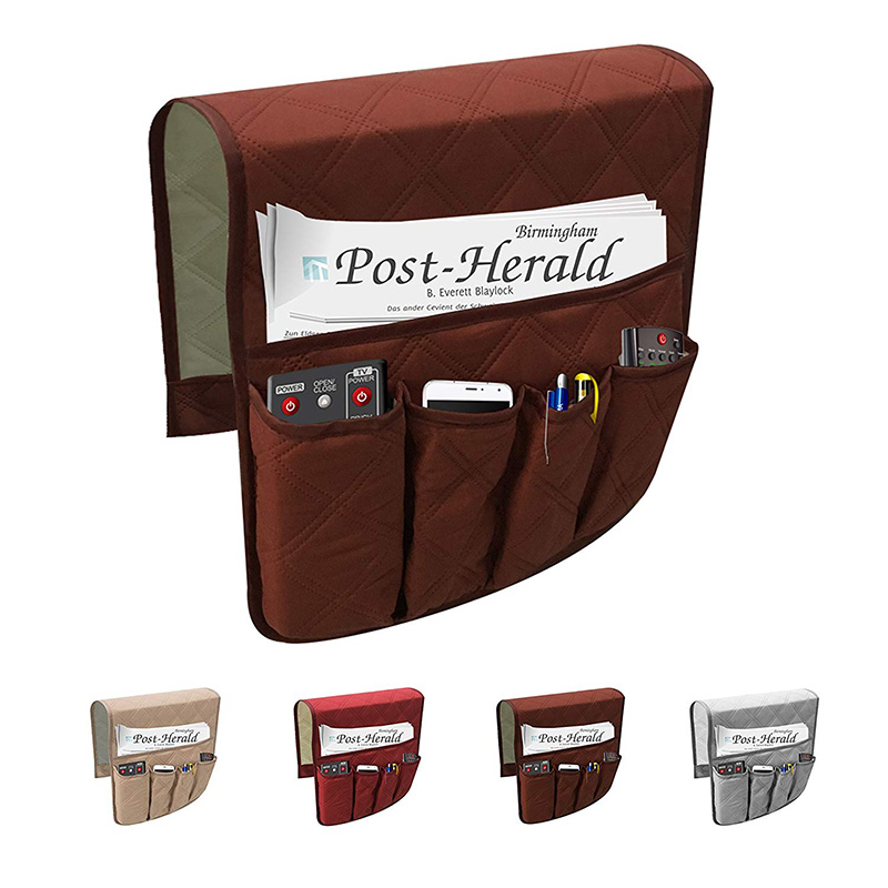 5 Pockets Sofa Rest TV Remote Control Tidy Organizer Holder Chair Couch Bag D1D