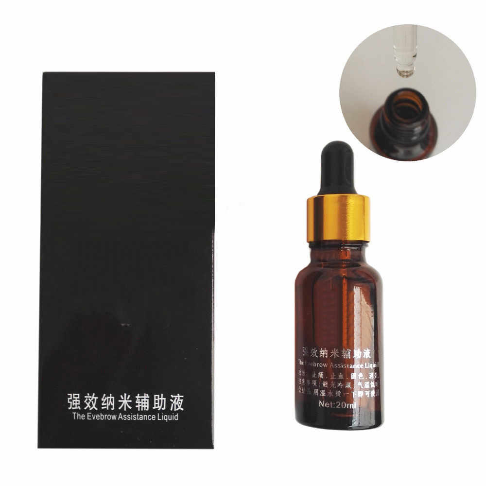 1 Bottle 20ml Permanent Tattoo Makeup Assistance Auxiliary Liquid Supply For Eyebrow Lip Makeup Tattooing Accessories