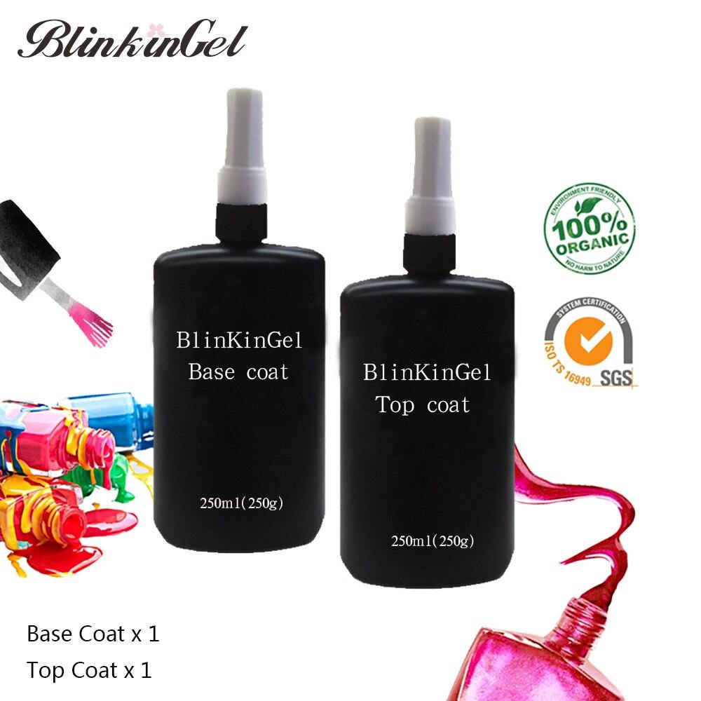 BlinkinGel 250 ml długotrwałe UV LED warstwa wierzchnia bazy żel UV żel podkładowy utwardzany UV warstwa wierzchnia lakier do paznokci lakier do paznokci żel w Żel do paznokci od Uroda i zdrowie na  Grupa 3