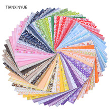 TIANXINYUE 50cmx50cm 100% Cotton Quilts Fabric for DIY Sewing Patchwork Kids Bedding Bags Baby Cloth