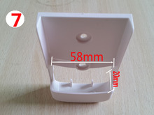 1pcs  New (7) TV DVD Air Conditioner Wall Mount Remote Control Holder Wall Mounted 58mm*20mm (2.28in*0.79in)