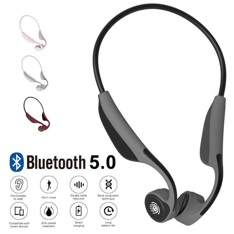 Nouveau V9 alliage Conduction osseuse sans fil Bluetooth écouteur V5.0 CSR8635 stéréo Hifi Sport écouteurs casque avec micro