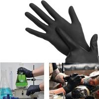 100PCS Disposable Soft Black Tattoo Gloves Dental Medical Nitrile Latex Sterile Gloves Permanent Makeup Body Art Size S M L