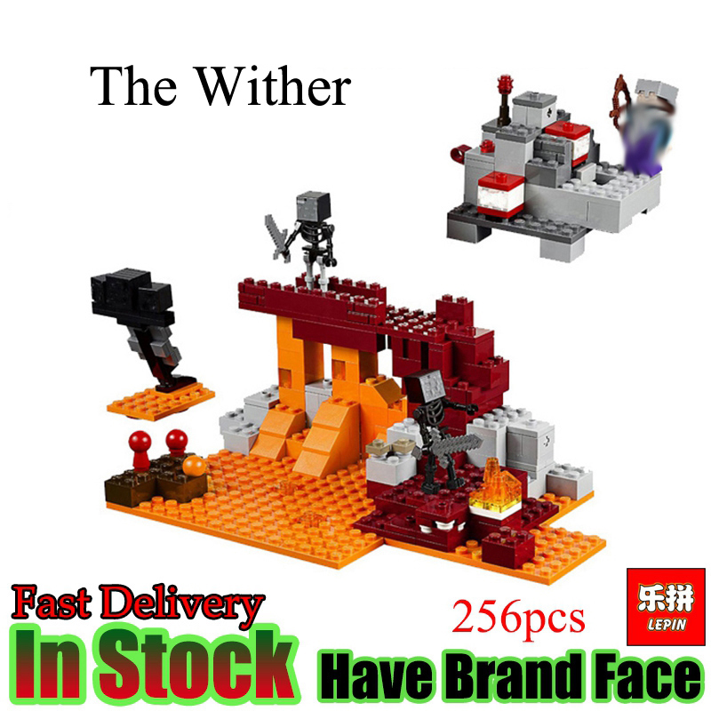 LEPIN Minecraft 256pcs  The Wither  witch hell  Figure My world Model Building Blocks  Bricks Toys For Children Gift lele bela my world minecraft dragon blue sky 548pcs building blocks bricks toys for children gift mye