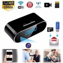 1080 P Wi Fi мини камера Время Будильник беспроводной движения сенсор IP безопасности ночное видение Micro Home Remote мониторы Скрытая TF карты
