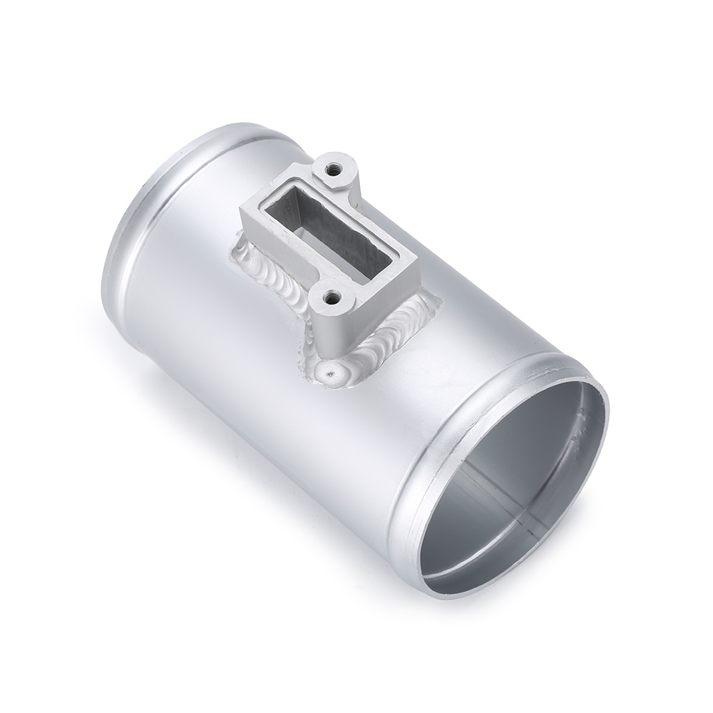 "3/"" Aluminium Air Flow Sensor Mount Connector Silver for Nissan Honda Civic Ford"