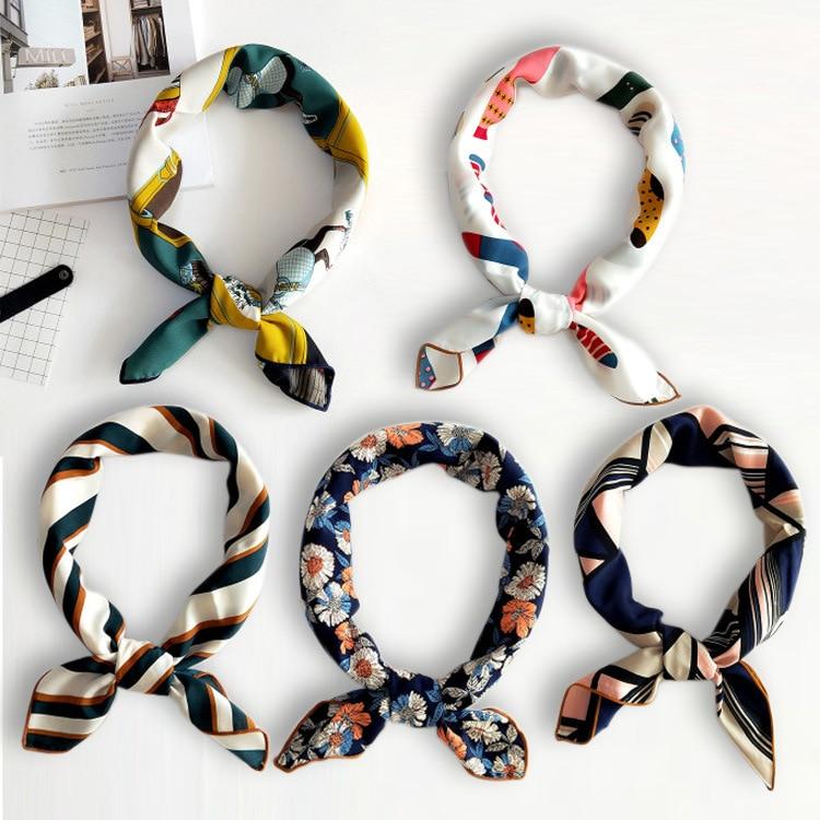 2018 Newest bandana Square   Scarf   High Quality Summer Cotton Linen Silk Women Print Stole Fashion Ladies Shawl   Scarves     wraps