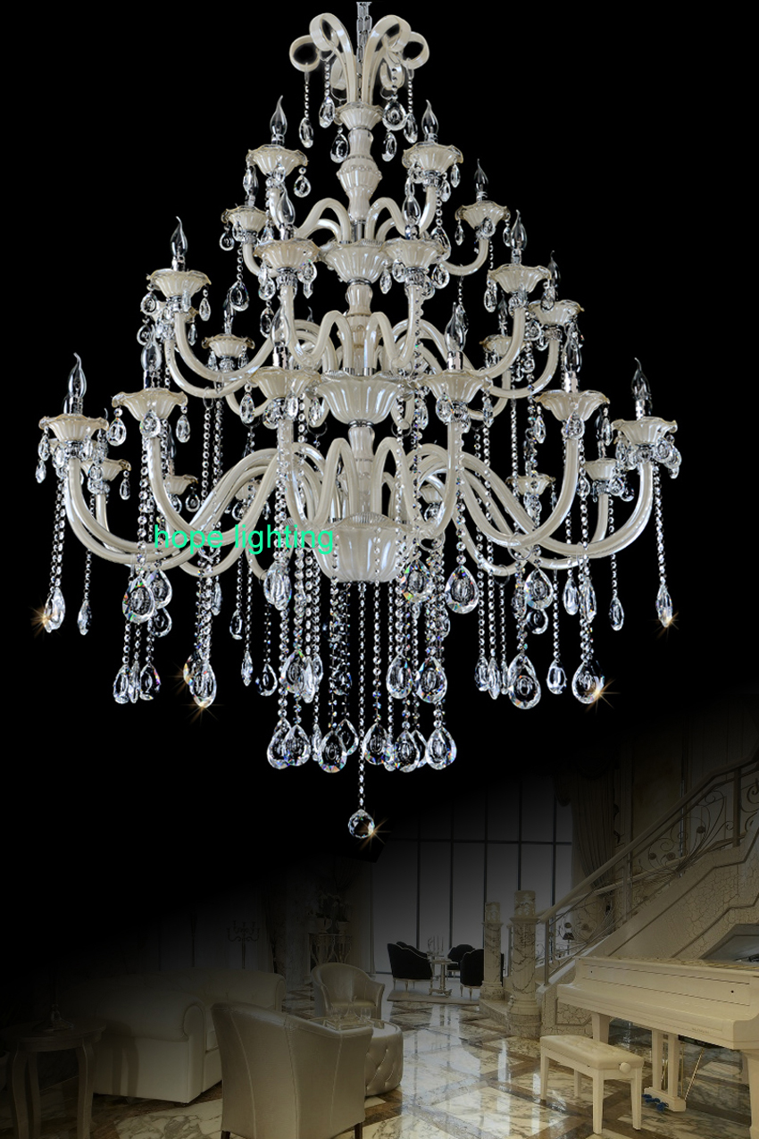 villa stair large product room led crystal duplex chandelier building living spiral flower lobby hall banquet modern sales