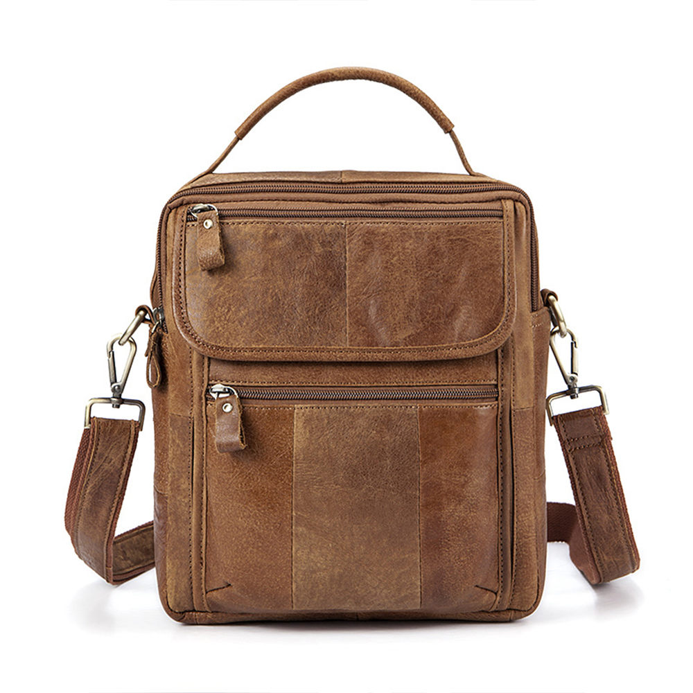 Men Shoulder Bags Advanced Vintage Retro Business Messenger Bags Charming Multifunction Casual Travel Crossbody Pack Rucksack genuine leather men shoulder bags brown black business messenger bag vintage multifunction casual travel crossbody pack rucksack