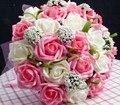На Складе Великолепная Стразы Бисером Свадебные Букеты 2016 Свадебные Букеты buque де noiva Новое Прибытие