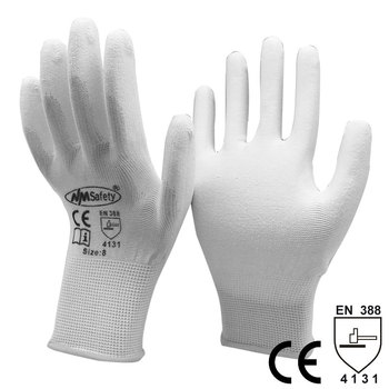 цена на 12 Pairs Anti Static Cotton PU Nylon Work Glove ESD Safety Electronic Industrial Working Gloves for Men or Women