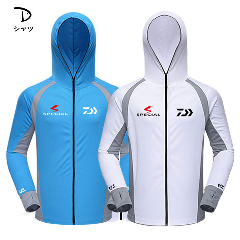 2019 Summer Daiwa Long Sleeve Anti-uv Fishing Suit Light Breathable Quick-drying Wicking Hooded Ice Silk Fishing Shirt Men2019 Summer Daiwa Long Sleeve Anti-uv Fishing Suit Light Breathable Quick-drying Wicking Hooded Ice Silk Fishing Shirt Men