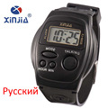 Novo Simples Homens E Mulheres Relógio Falar Língua Russa Falando Cego Eletrônico Digital Sports relógios de Pulso Para A Pessoa Idosa