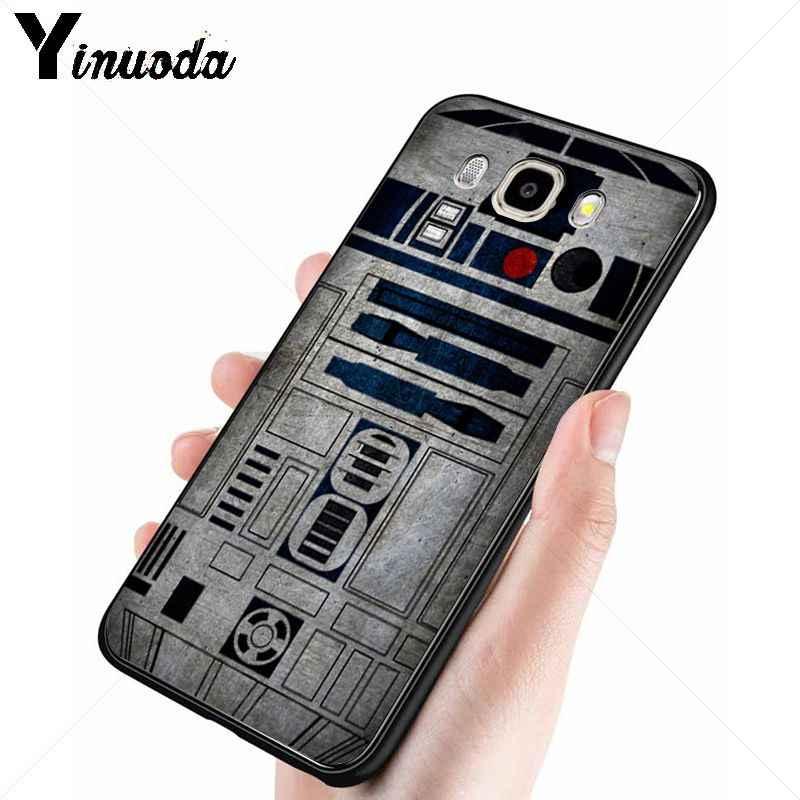 Yinuoda star wars ภาพยนตร์สีดำ Tpu ซิลิโคนโทรศัพท์ฝาครอบสำหรับ Samsung Galaxy j6plus j7 prime j8 j2 prime j4plus 2018 กรณี