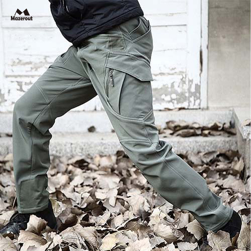MAZEROUT Tactical Shark Skin Soft Shell Military Pants Men Waterproof Heat Reflection Sport Outdoor Trousers Army