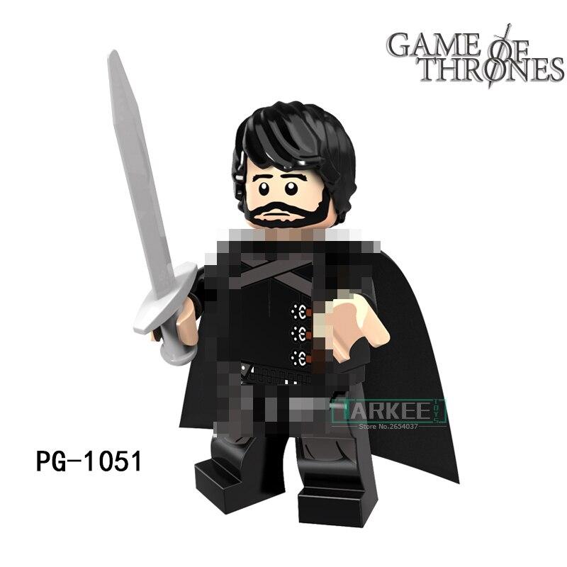 Building Blocks Jon Snow petyr Baelish Super Hero Star Wars Game of Thrones Action Bricks Kids DIY Toys Hobbies PG1051 Figures