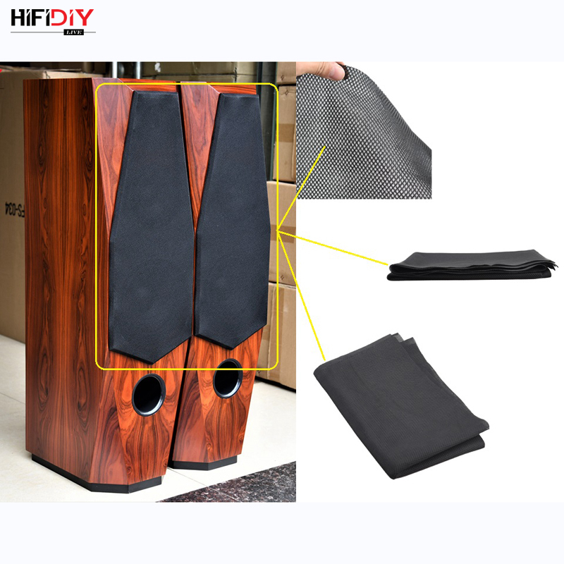 HIFIDIY LIVE Speaker Grill Cloth Stereo Fabric Gille Mesh Cloth Speaker Protective Accessories  Black 1.5*0.5