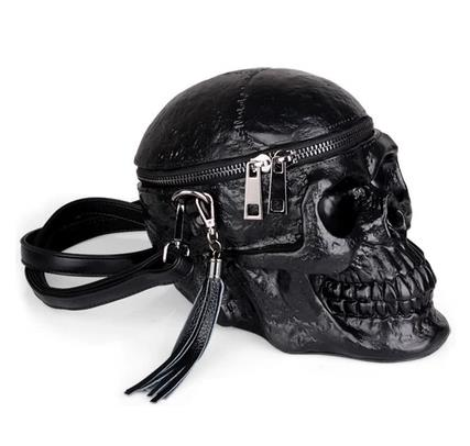 Black Skull Shoulder Bag Crossbones