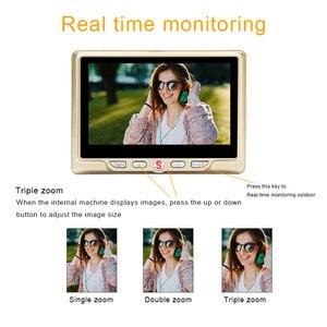 "Image 3 - 4.3 ""LCD شاشة ملونة فيديو العين مراقب الباب الأشعة تحت الحمراء للرؤية الليلية البصرية باب كاميرا بثقب دقيق صور/فيديو جرس الباب الرقمي كاميرا"