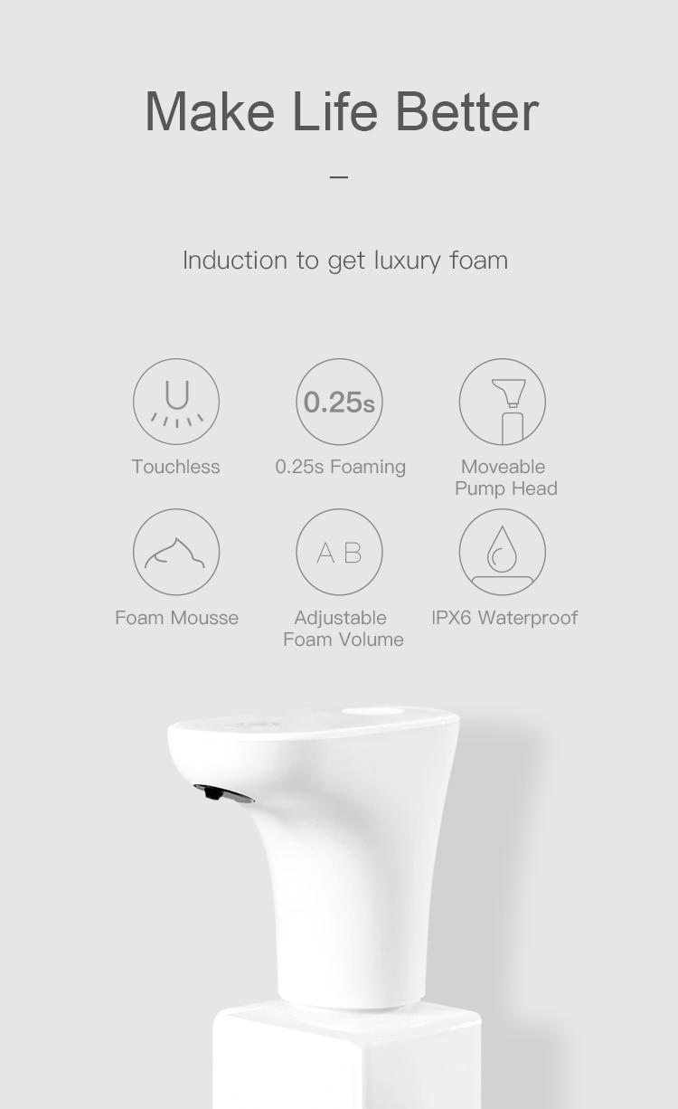 Image 4 - Xiaomi Eco System Brand Lebath Auto Induction Foam Soap Dispenser  Hand Washer Builting Battery Charge 450ML Capacity PK MiniJSmart  Remote Control