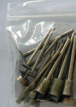 цена на 20pcs Set Coarse Rough Embryos Grinding Tool Kit Diamond Mounted Points Grinding Heads Agate Jade Stone Carving Knife Mill Tool