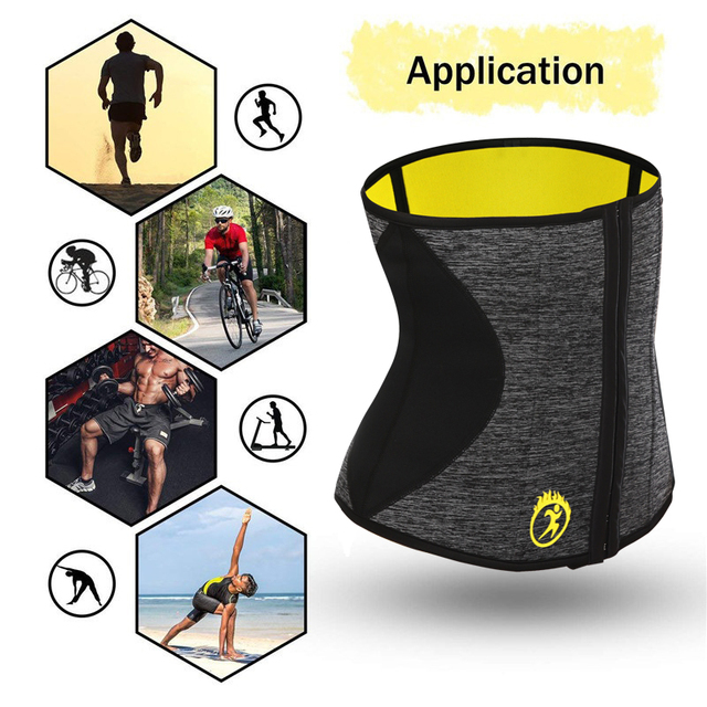 NINGMI Man Shaper Waist Trainer for Men Neoprene Hot Sweat Shirt Body Modeling Belt Weight Loss Slimming Underwear Corset Girdle 4