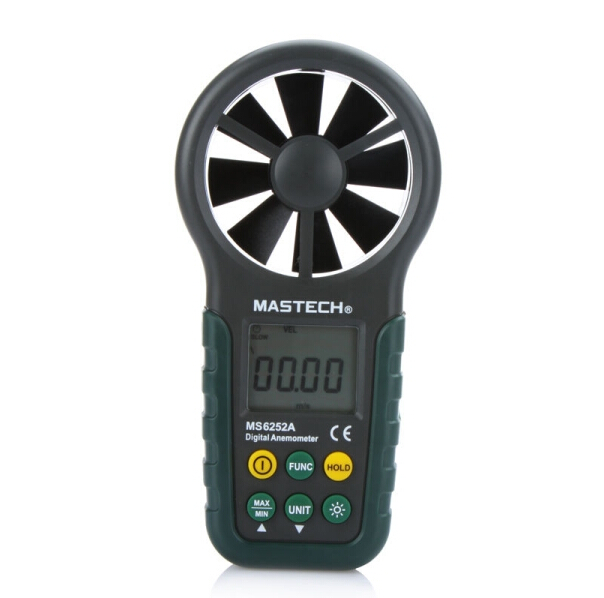 Multifunction Digital Anemometer Wind Speed Meter/Air Volume Measure /Temperature/Humidity Meter MS6252A st 8022 st8022 temperature humidity wind meter anemometer