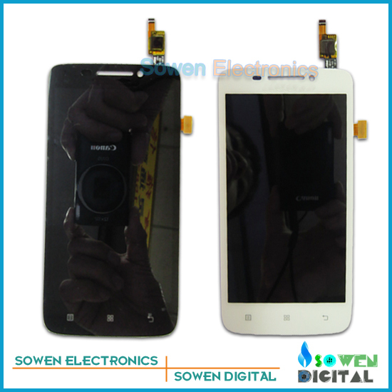 ФОТО LCD Screen with Touch Screen digitizer assembly full sets for Lenovo S650, black or white