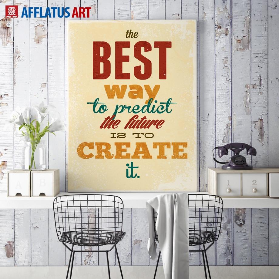 AFFLATUS Motivational Typography Life Quotes A4 Vintage Retro Art ...