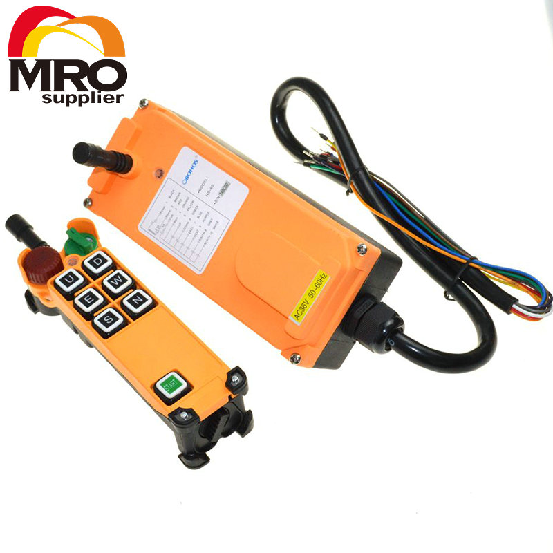 цена на OBOHOS 6 Channel 1 Speed 1 Transmitter Hoist Crane Truck Radio Remote Control System with E-Stop XH00057