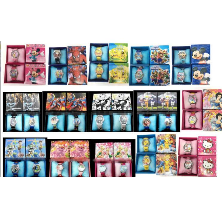 80Pcs Cartoon Mixed Kids Boys Girls Children Cartoon Quartz  Children Wristwatch Watches With Boxes Party Favors Gift Toy AD2