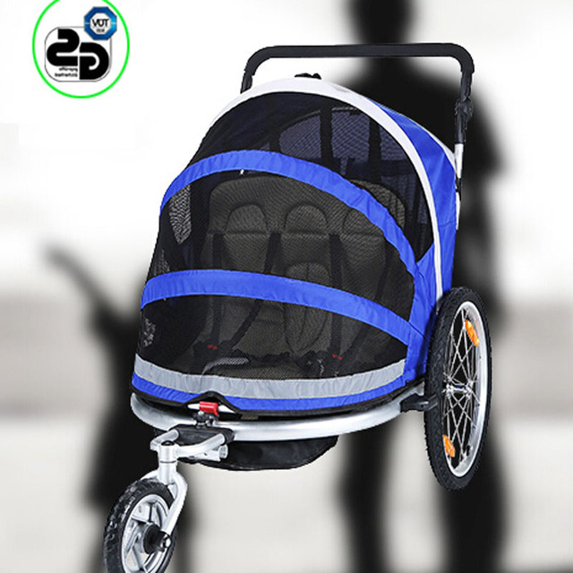 Multifunctional baby stroller bike trailer tricycle Double seat for 2 kids,Aluminum Alloy frame and air wheel