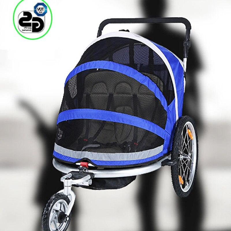 Remolque de bicicleta cochecito de bebé multifuncional triciclo ...