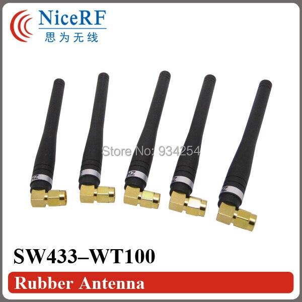 4 unids/lote sw433-wt100 433 Mhz/868 MHz goma Antenas para el envío libre