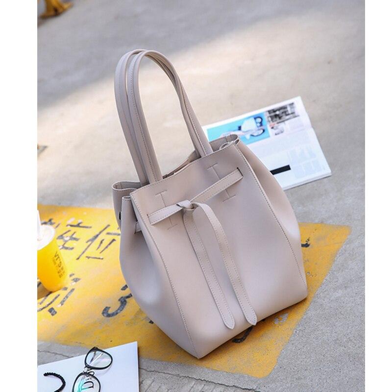 ФОТО Women Shoulder Bag Famous Brand Mini Bucket Bag Drawstring Bucket Bag Crossbody Messenger Handbag with Small Pouch