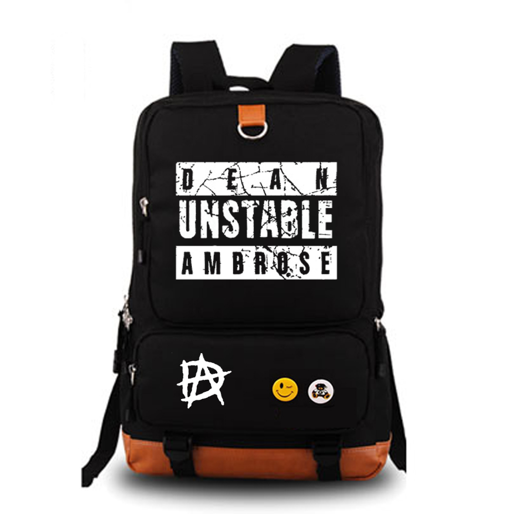 School bags online cheap - Dean Ambrose Wrestling School Bag Noctilucous Backpack Student School Bag Notebook Backpack Daily Backpack China