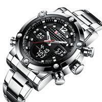 BIDEN brand man watches men wristwatches steel quartz digital men's clocks waterproof Multifunction watch Citizen movement