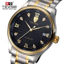 Los Hombres de moda Reloj TEVISE Relojes Casual Hombres Top Marca de Lujo Impermeable de Los Hombres reloj De Pulsera Reloj de la Maquinaria reloj hombre